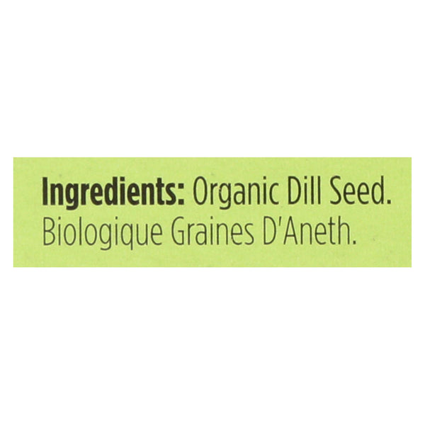 Spicely Organics - Organic Dill Seed - Case Of 6 - 0.35 Oz.