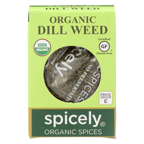 Spicely Organics - Organic Dill Weed - Case Of 6 - 0.1 Oz.