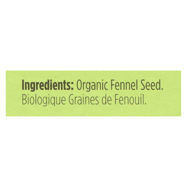 Spicely Organics - Organic Fennel Seed - Case Of 6 - 0.3 Oz.