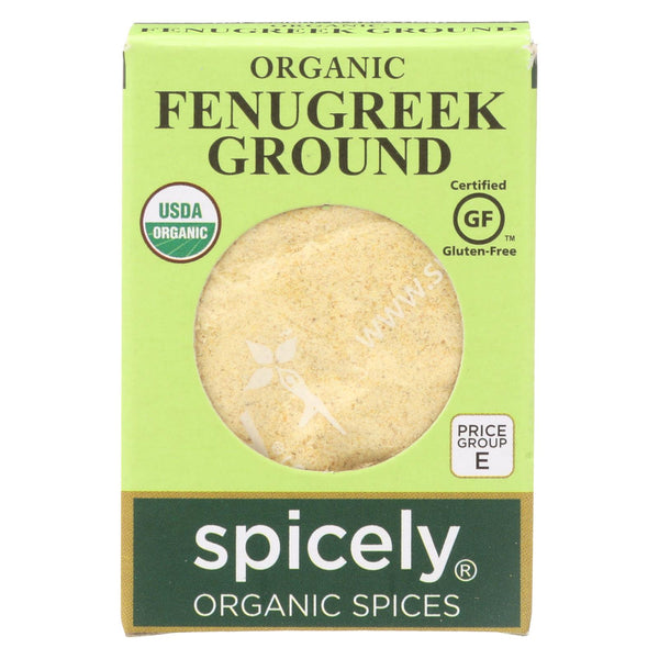 Spicely Organics - Organic Fenugreek - Ground - Case Of 6 - 0.45 Oz.