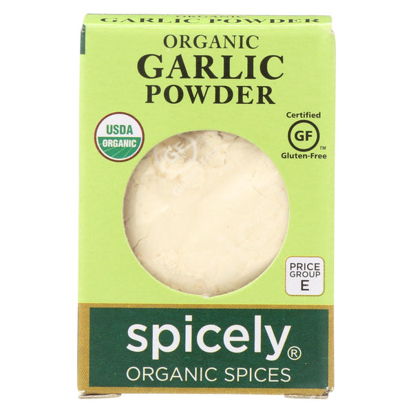Spicely Organics - Organic Garlic Powder - Case Of 6 - 0.4 Oz.