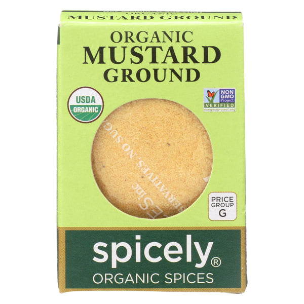 Spicely Organics - Organic Mustard - Ground - Case Of 6 - 0.4 Oz.