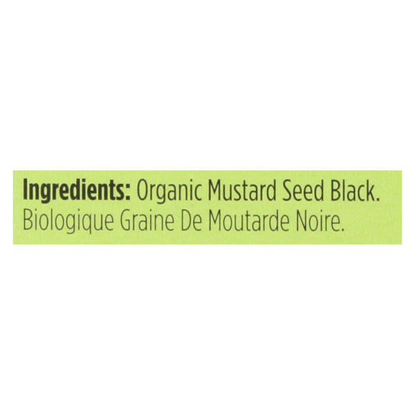 Spicely Organics - Organic Mustard Seed - Black - Case Of 6 - 0.5 Oz.