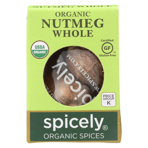 Spicely Organics - Organic Nutmeg - Whole - Case Of 6 - 0.1 Oz.