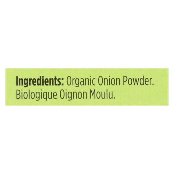 Spicely Organics - Organic Onion Powder - Case Of 6 - 0.4 Oz.