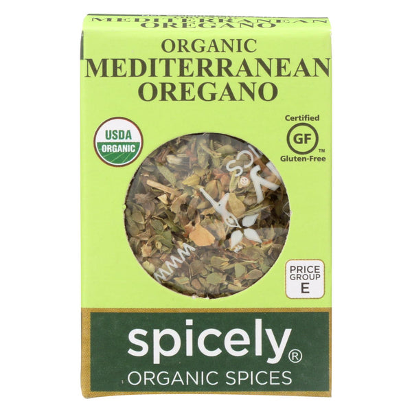 Spicely Organics - Organic Oregano - Case Of 6 - 0.15 Oz.