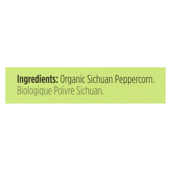 Spicely Organics - Organic Peppercorn - Sichuan - Case Of 6 - 0.2 Oz.