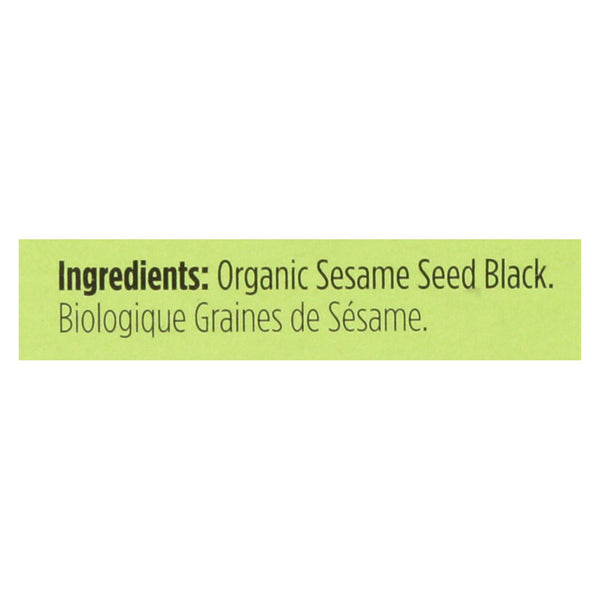 Spicely Organics - Organic Sesame Seed - Black - Case Of 6 - 0.45 Oz.