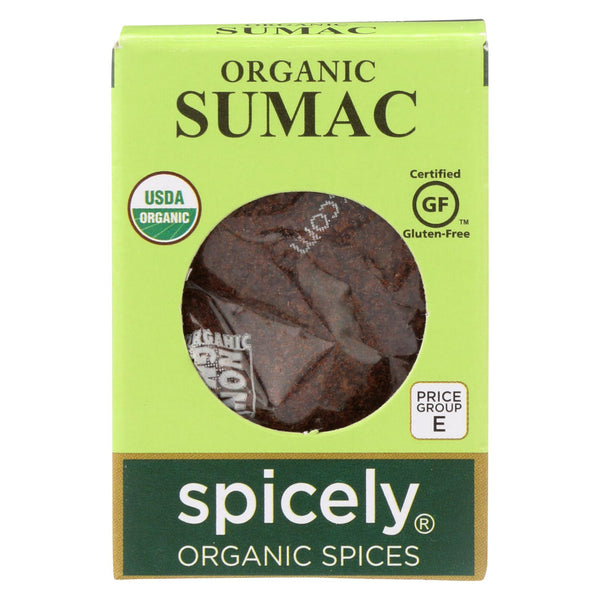 Spicely Organics - Organic Sumac - Case Of 6 - 0.45 Oz.
