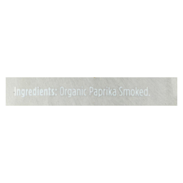 Spicely Organics - Organic Paprika - Smoked - Case Of 2 - 3 Oz.