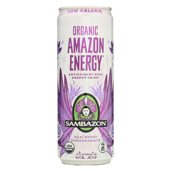 Sambazon Organic Amazon Energy Drink - Low Calorie - Case Of 12 - 12 Fl Oz