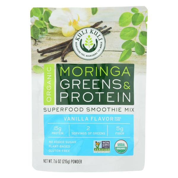 Kuli Kuli Moringa Greens And Protein Powder - Vanilla Flavor - 7.6 Oz