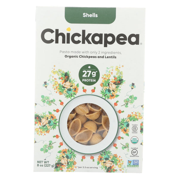 Chickapea Pasta - Pasta - Shells - Case Of 6 - 8 Oz.