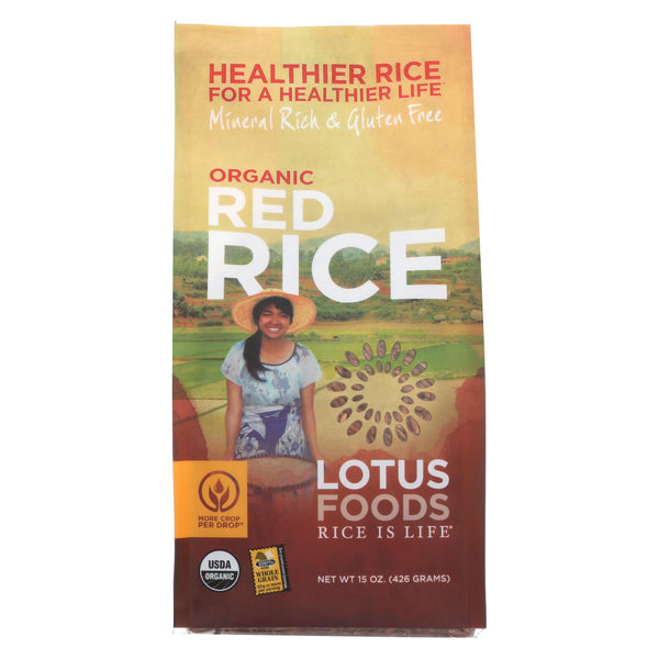 Lotus Foods Heriloom Bhutan Red Rice - Case Of 6 - 15 Oz.