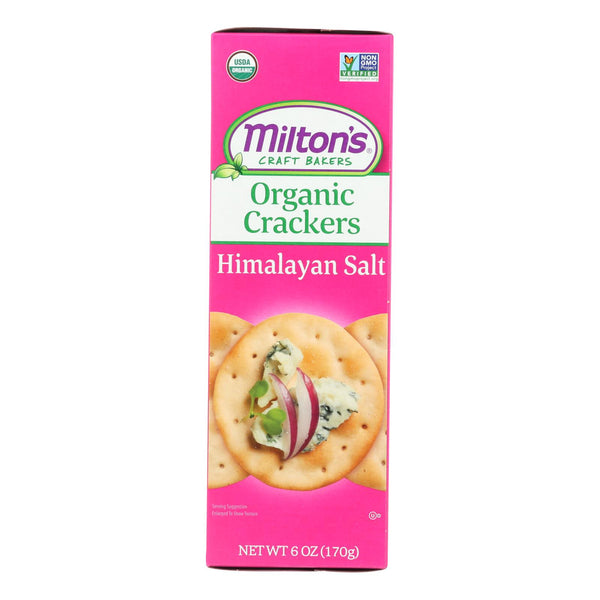 Miltons - Baked Crackers Hm Salt - Case Of 8 - 6 Oz