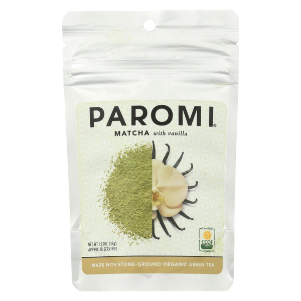 Paromi Tea - Matcha Vanilla - Case Of 6 - 1.23 Oz