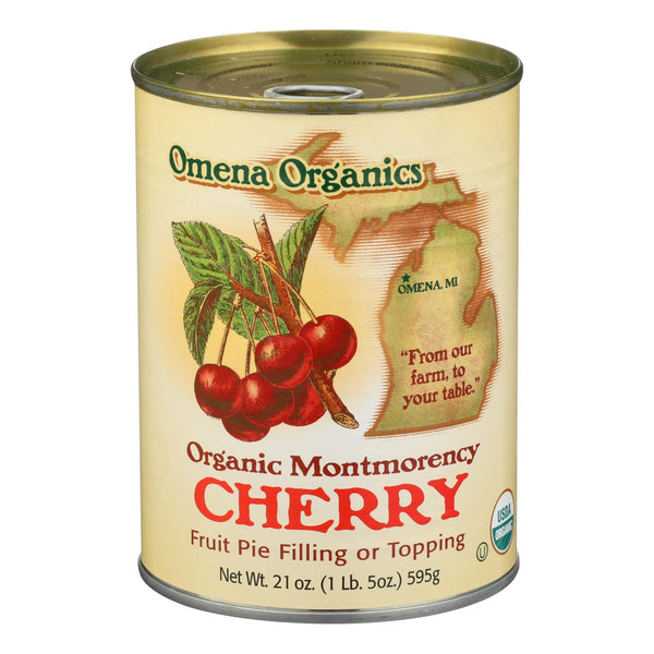 Omena Organics Pie Fllng - Organic - Tart Cherry - Case Of 12 - 21 Oz