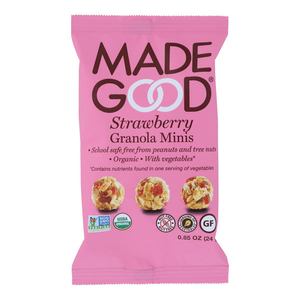 Made Good - Granola Minis - Strawberry - Case Of 12 - 0.85 Oz.