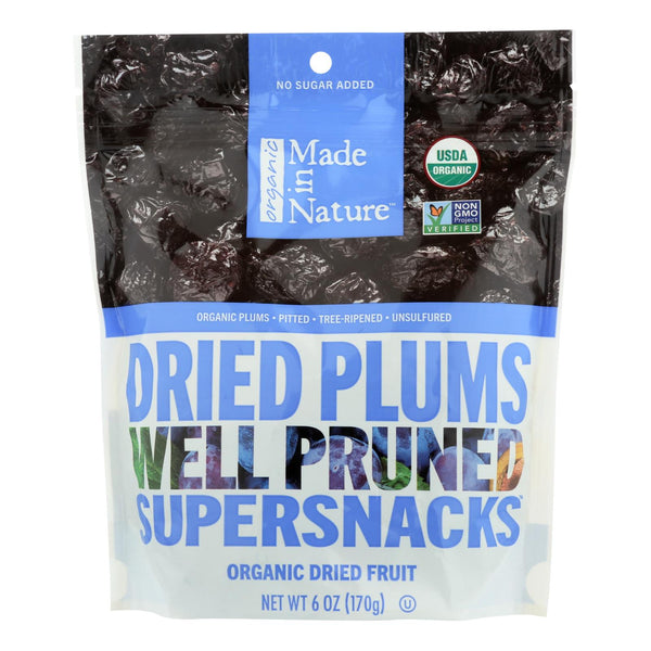 Made In Nature Plums Organic Dried Fruit  - Case Of 6 - 6 Oz