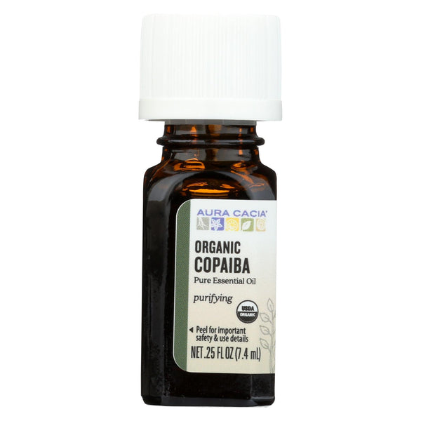 Aura Cacia - Essential Oil - Copaiba - Case Of 1 - .25 Fl Oz.