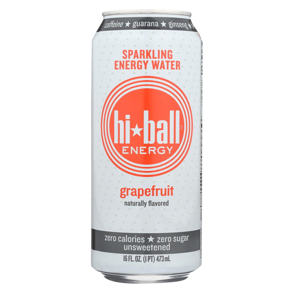 Hi Ball Energy Sparkling Energy Water - Grapefruit - Case Of 1 - 8-16 Fl Oz.