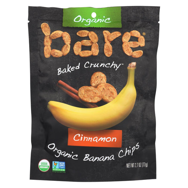 Bare Fruit Banana Chips - Cinnamon Banana - Case Of 12 - 2.7 Oz.