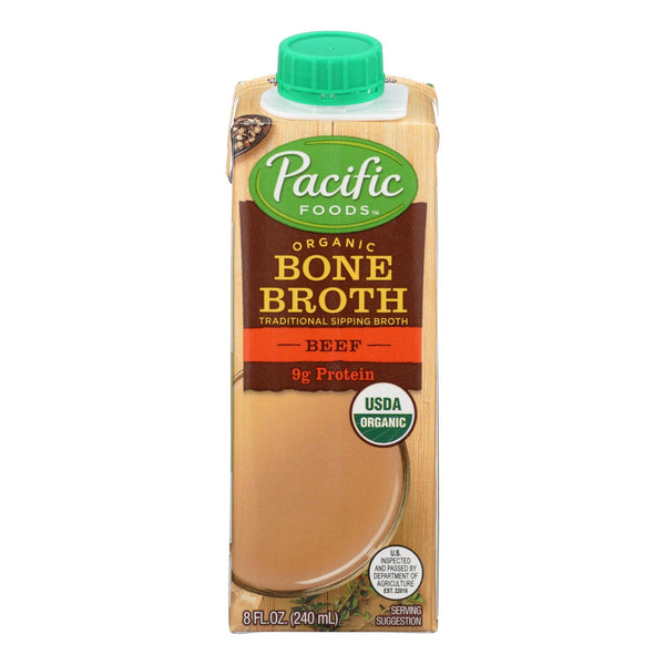 Pacific Natural Foods - Bone Broth Beef - Case Of 12 - 8 Fz
