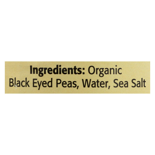 Omena Organics - Peas Black Eyed - Case Of 12 - 15 Oz