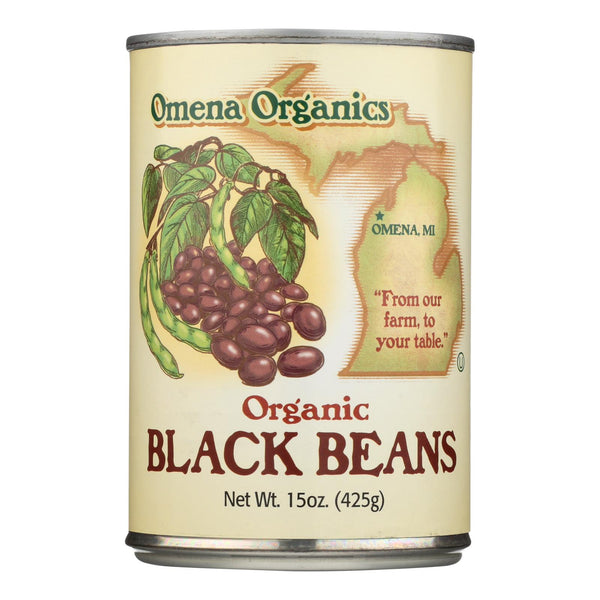 Omena Organics - Beans Black - Case Of 12 - 15 Oz