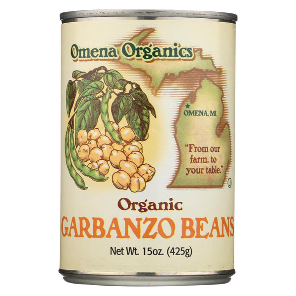 Omena Organics Organic Garbanzo Beans - Case Of 12 - 15 Oz