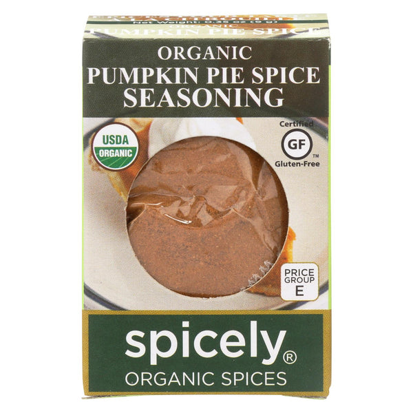 Spicely Organics - Organic Seasoning - Pumpkin Pie Spice - Case Of 6 - 0.35 Oz.