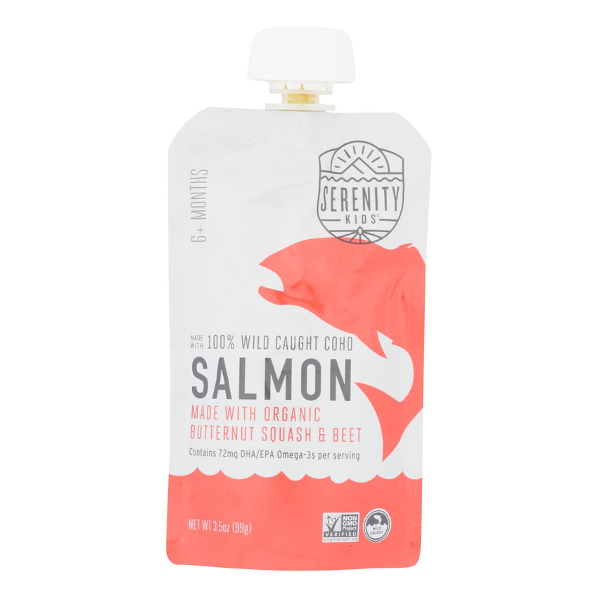 Serenity Kids Llc - Pouch Salmn B Sq Beet - Case Of 6 - 3.5 Oz