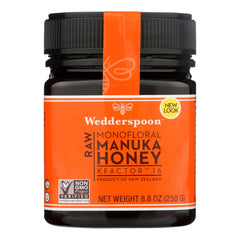 Wedderspoon Manuka Honey, Kfactor 16,  - Case Of 6 - 8.8 Oz