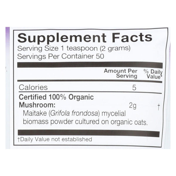 Om Organic Mushroom Nutrition Maitake Dietary Supplement Powder  - 1 Each - 3.5 Oz