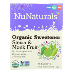Nunaturals - Stevia And Monk Fruit - 1 Each - 35 Ct