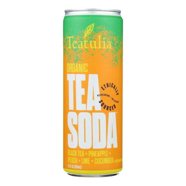 Teatulia - Soda Black Tea - Case Of 12 - 12 Fz