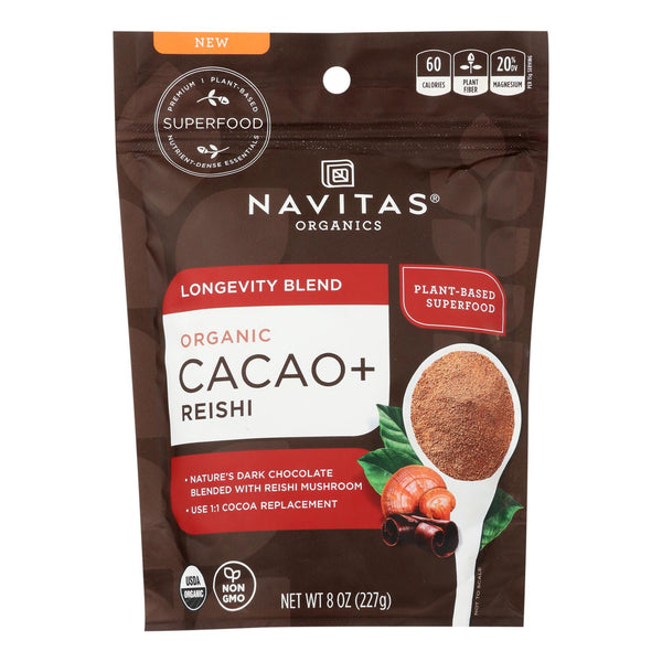 Navitas Organics - Cacao + Organic Lngvty Powder - Case Of 6 - 8 Oz