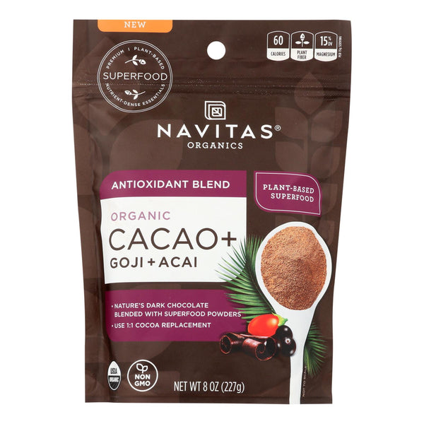 Navitas Organics - Cacao + Organic Antiox Powder - Case Of 6 - 8 Oz
