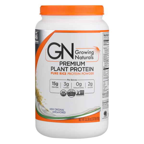 Growingnaturals Organic Original Rice Protein Powder  - 1 Each - 32.38 Oz