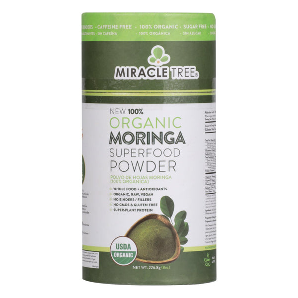 Miracle Tree - Moringa Powder Organic - Case Of 6 - 8 Oz