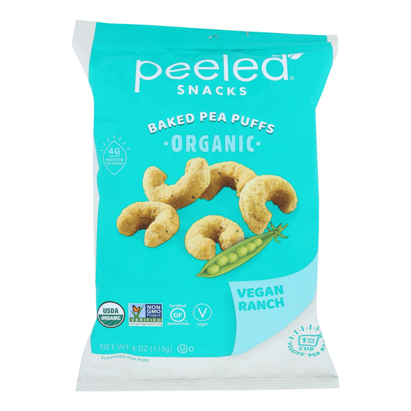 Peeled - Pea Puff Vegan Ranch - Case Of 12 - 4 Oz