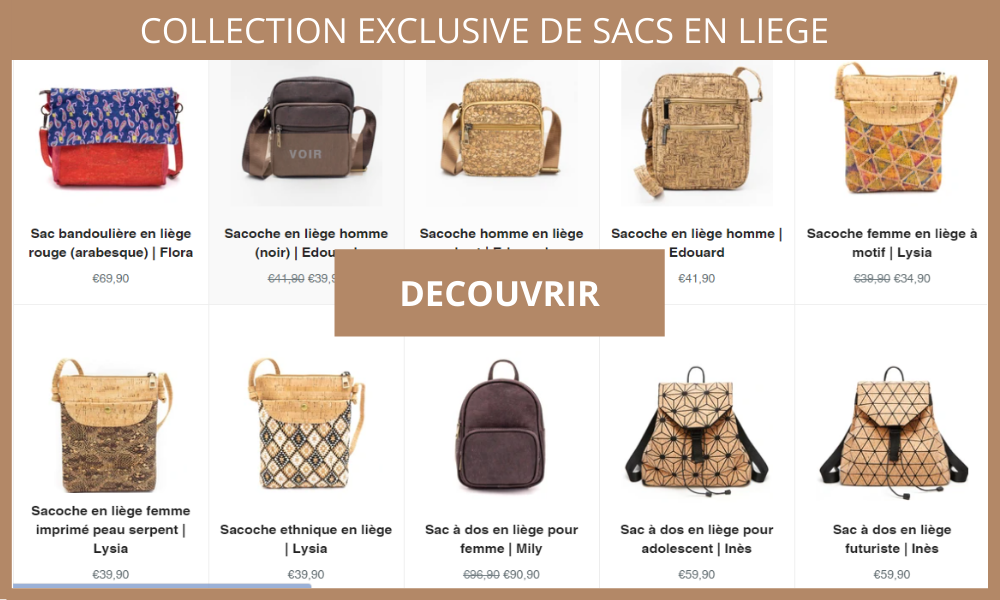 collection de sac en liège