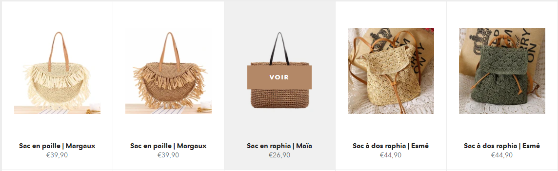 collection sac en raphia