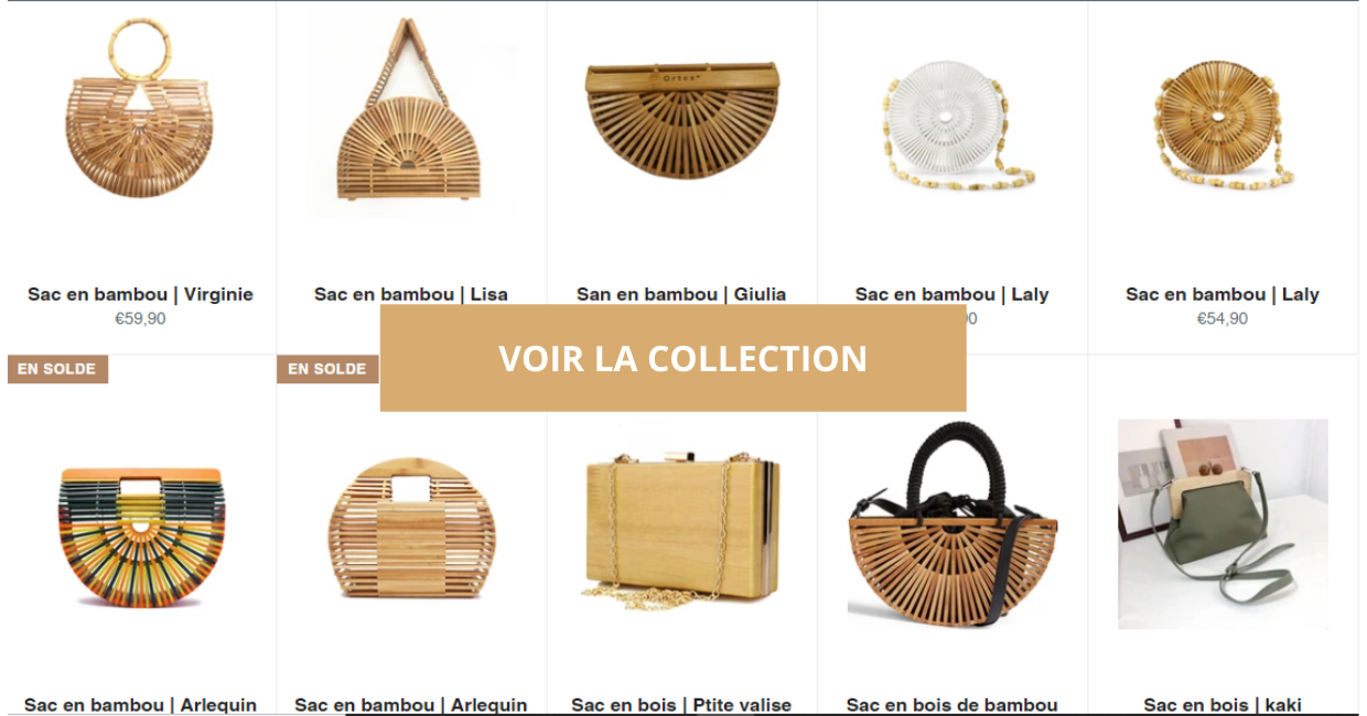 collection sac en bambou