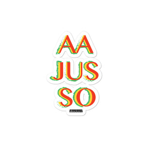 AA Jus So Bubble-free stickers