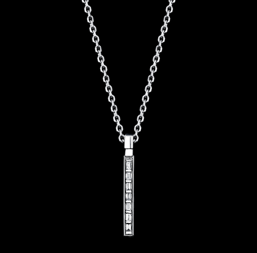 Signature Collection Small Baguette Bar Necklace