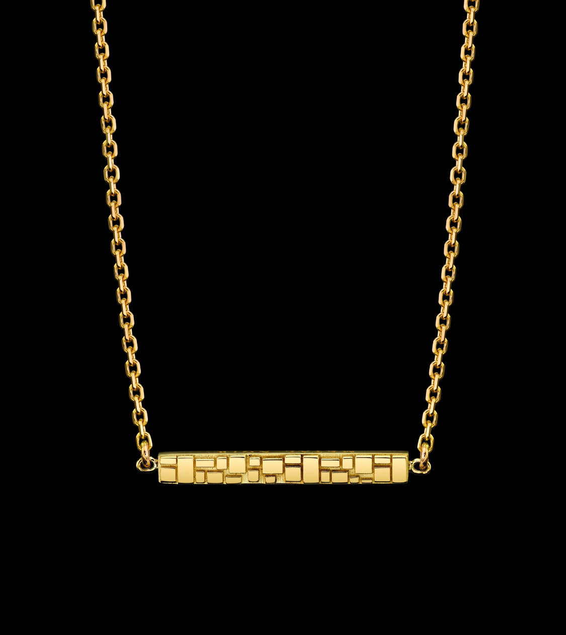Signature Collection Linked Small Bar Necklace