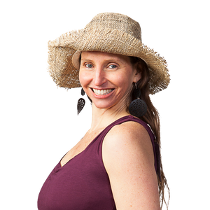 Ark Fair Trade - Hemp Wire Rim Fringe Hat
