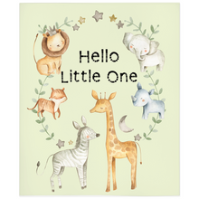 Load image into Gallery viewer, Baby Africa Hello Little One Minky Blanket, Safari Nursery Bedding