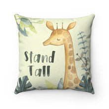 Load image into Gallery viewer, Baby Africa Stand Tall Giraffe Pillow, Safari Nursery Decor